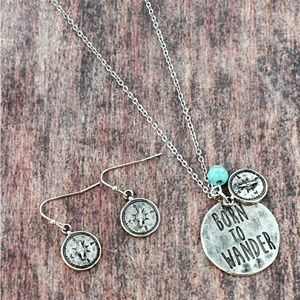 'Born To Wander' Necklace and Earrings Set